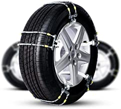 QCC Cadenas de Coches Anti Deslizamiento de los neumáticos Zip Tie Kit de Acero de tracción Grapas de Nieve con apretones Resistente a la Rotura Invernal Cadenas de conducción de Seguridad Ajuste for