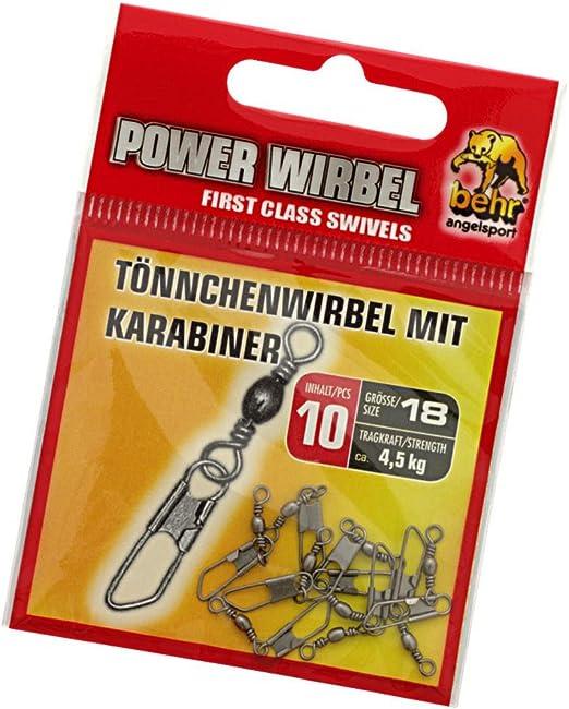 100 X Wirbel Angelwirbel Tönnchenwirbel Sicherheit Karabiner Angelnzubehör F3X0