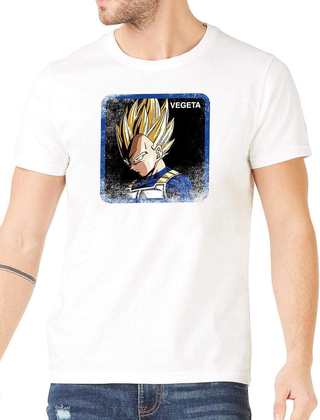 Capslab Camiseta Vegeta Blanca para Hombre