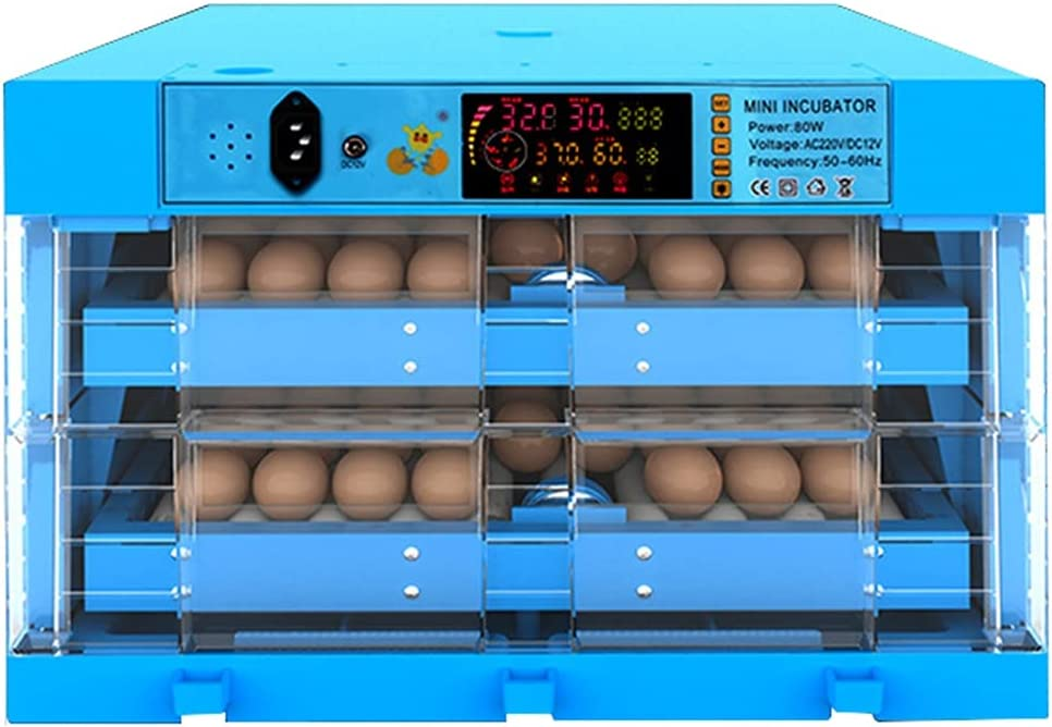 YAWEDA 128 Egg Incubator Max 48% OFF safety Poultry Hatcher Temperature Control Hat