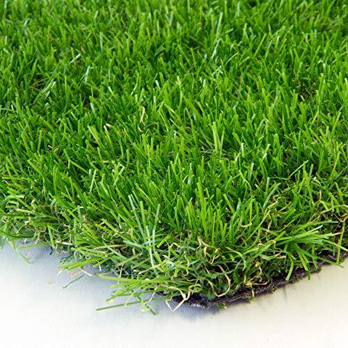 Steffensmeier Premium Kunstrasen Rasenteppich Windsor   wasserdurchlässig mit Drainage für Balkon, Garten   UV-Garantie in Grün, Größe: 300x550 cm