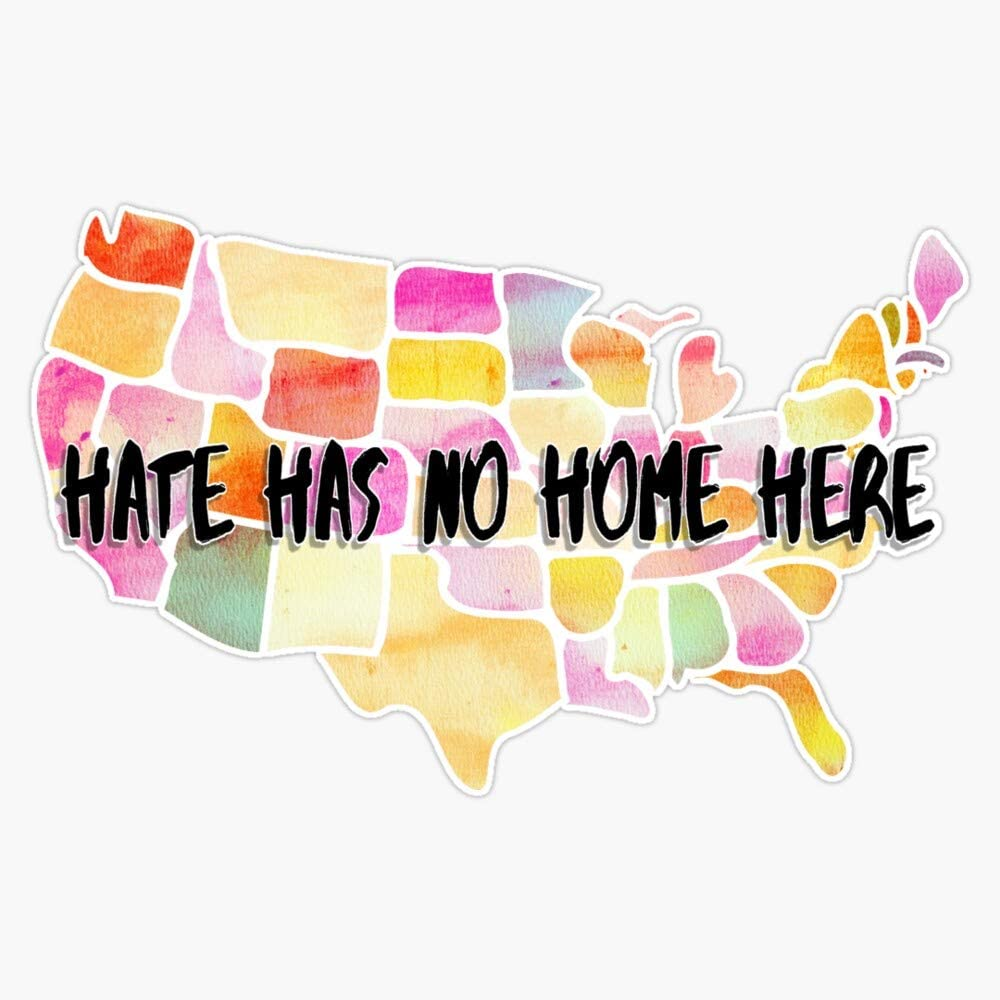MAGNET Hate Has No Home Here Vinyl Magnet Bumper Magnetic Sticker 5