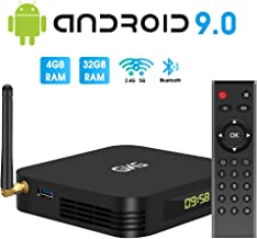TV Box Android 9.0, GKG Android TV Box 4GB RAM 32GB ROM Allwinner H6 Quad-core Dual-WiFi 2.4G + 5G Support BT 4.1 USB 3.0 Ethernet 4K 3D Video Media Player[2020 Newest] photo
