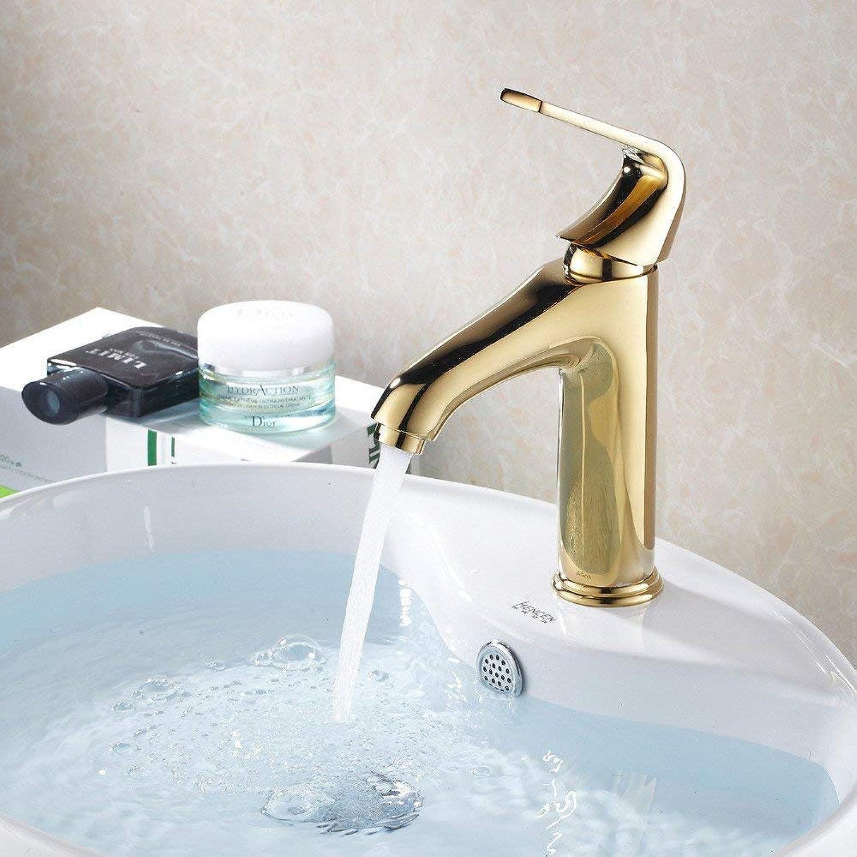 Oudan Basin Mixer Tap Bathroom Sink Faucet The golden basin Faucet 17 (color   32)