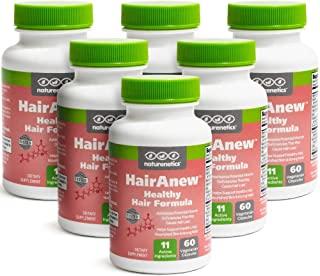 HairAnew (Unique Hair Growth Vitamins with Biotin) - Tested - for Hair, Skin and Nails - Women and Men - Addresses Vitamin Deficiencies That Could be The Cause of Hair Loss or Lack of Regrowth (6)