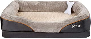 JOYELF Memory Foam Hundebett Orthopädisches Hundebett & Sofa mit abnehmbarem waschbarem Bezug 4 Größen