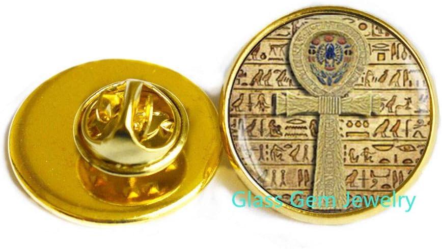 Egyptian ankh Cross Brooch, Egyptian Pin, Ancient Egypt Jewelry, ankh Pin, Egypt Brooch, Egyptian Jewelry,Q0090