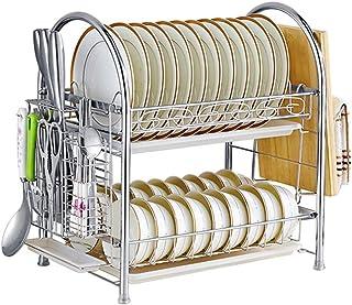 Dxbqm Organisateur de Rangement étagère de Cuisine, égouttoir en Acier Inoxydable étagère de Cuisine Support de Baguettes ...