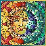 Kit Pintura Diamantes 5D YUESEN Sun and Moon Pintura Bordado con Diamante para Decoración Pared Hogar Bordado para Manualidades Adecuado Regalos Cumpleaños para Niños35*35cm