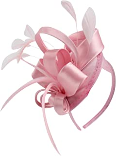 Fascinator Hats for Women Girls Feather Cocktail Tea...
