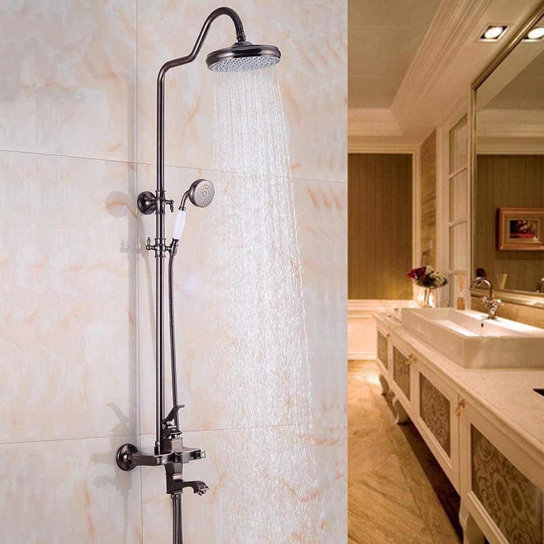 GWFVA Bad Dusche Mixer Set, Dusche Set Handbrause Stil schwarz Dusche Bad Wand Duschkopf Dusche