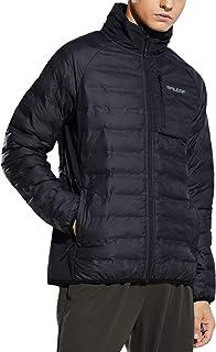 Baleaf Men's Puffer Jackets Lightweight Full Zip Down Track Jackets