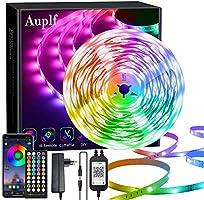 Auplf Led Streifen, Dimmbar RGB LED Band, Ultralang Bluetooth LED Strip 5050 SMD LED Licht Streifen Musik Sync, über...