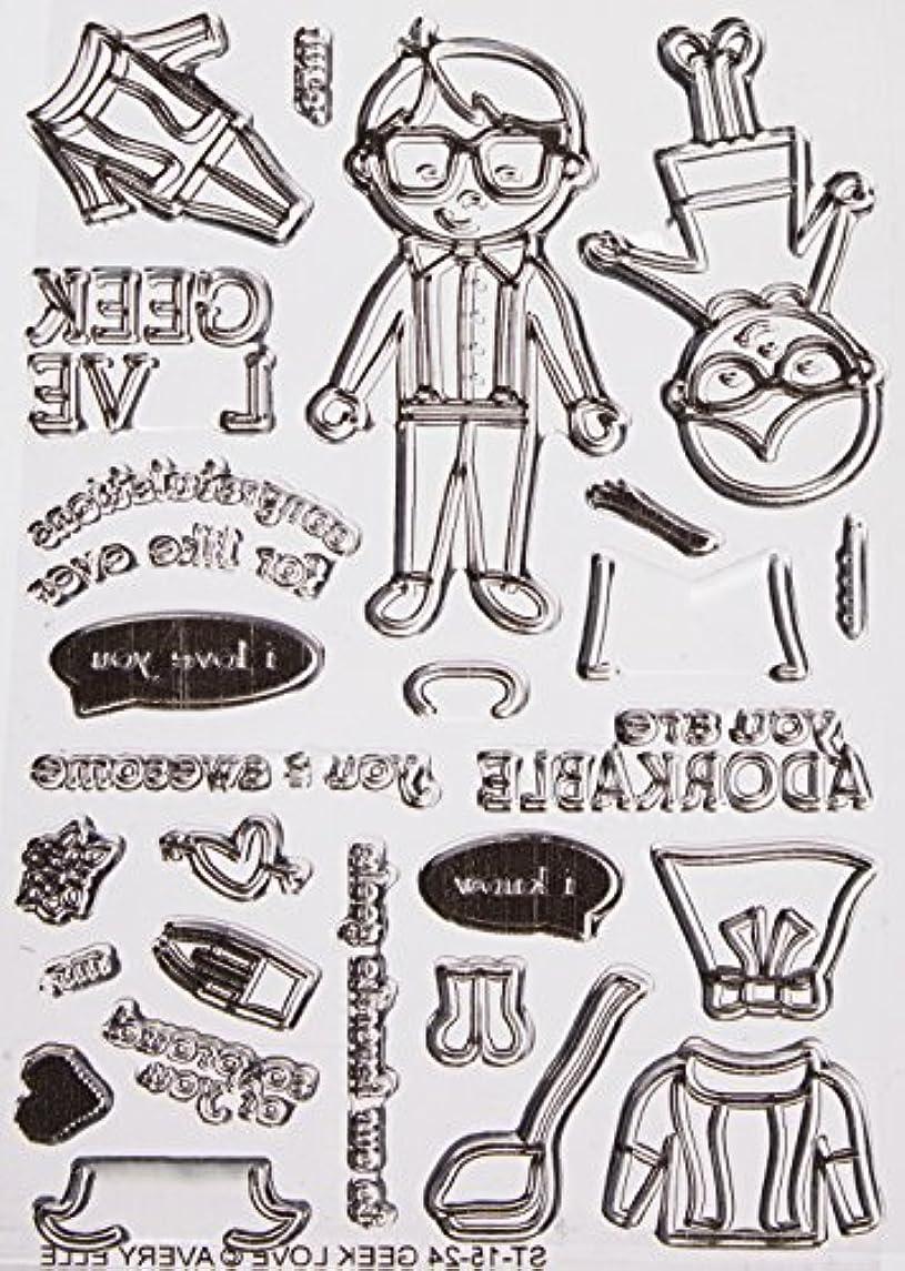 Avery Elle Geek Love Stamp Set, 4 by 6