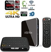 Apes Amlogic S905-X2 H96 MAX-X2 Android 8.1 Bluetooth 4.1 64GB/4GB Quad Core 1080p 4K 3D Dual WiFi 5G TV Box + Touchpad Wireless Keyboard Remote