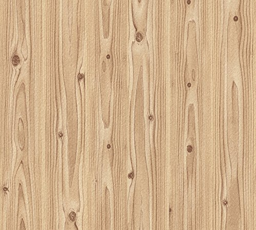A.S. Création Papiertapete Dekora Natur Ökotapete Tapete in Holz Optik 10,05 m x 0,53 m beige braun Made in Germany 779915 7799-15