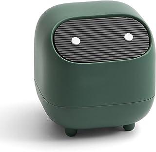 Mini poubelle de bureau en plastique avec motif ninja mignon, poubelle à presser, petite poubelle portable, rangement pour...