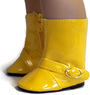 18 Inch Doll Shoes Gold Yellow Rain Boots Shoes Made for 18