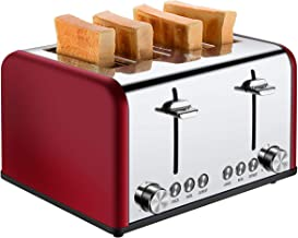 4 Slice Toaster, CUSIBOX Stainless Steel Toaster with Bagel, Defrost, Cancel Function,..