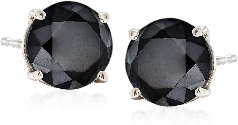 Ross-Simons 2.00 ct. t.w. Black Diamond Stud Earrings in 14kt White Gold