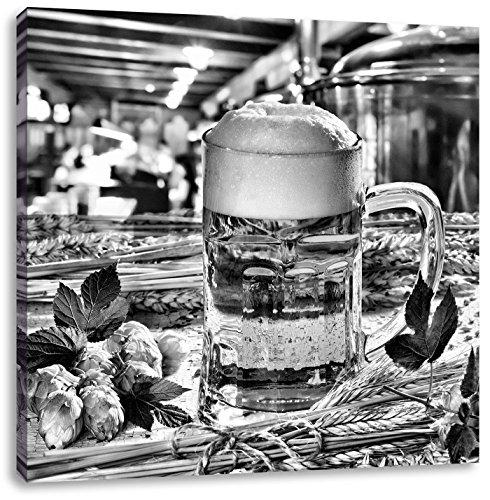 German vers bierCanvas Foto Plein | Maat: 60x60 cm | Wanddecoraties | Kunstdruk | Volledig gemonteerd