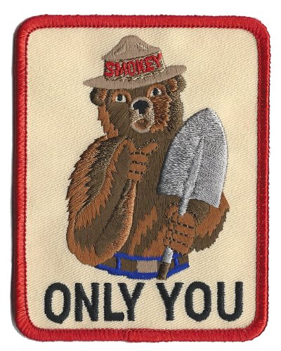 Smokey The Bear Vintage Prevent Forest Fires Iron On Patch - 1988