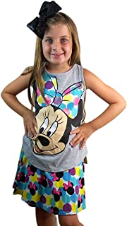 Girls Fun Minnie Print Skort Skirt/Shorts
