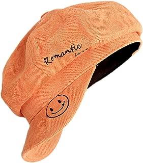 HHQSC Women's Berets French Beret hat Fancy Dress Accessories Winter Autumn Wool Unisex Cap (Color : Orange, Size : 55-59cm)