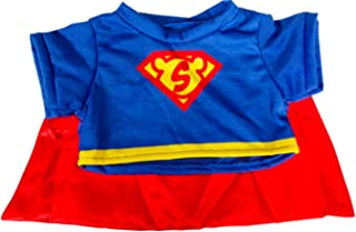 Super Bear Tee with Cape Teddy Bear Clothes Fits Most 14