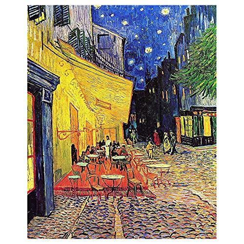 Legendarte Cuadro Lienzo, Impresión Digital - Terraza De Café por La Noche Vincent...