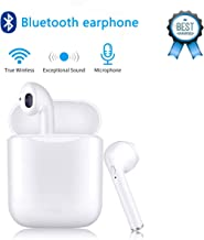 Wireless earbuds Bluetooth headset, noise-reducing waterproof 3D stereo in-ear headphones with microphone charging box, compatible with Apple Airpods Android / iPhone and other devices