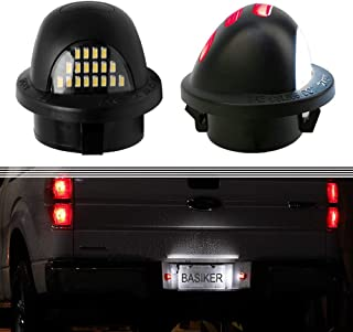 BASIKER LED License Plate Lights For Ford F150 Ranger F250 F350 Superduty Pickup Rear Bumper Lamp Fits Truck Bronco Explorer Excursion Expedition Assembly Red OLED Neon Tube Shell