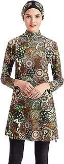 2021 جديد Burkini Muslim ملابس السباحة حجاب ملابس السباحة الإسلامية ثوب السباحة النساء (الحجم: 4X-Large)