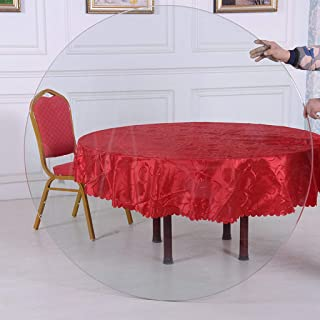 Rotating Tray Table Top Tempered Glass Round 22.8inches~46.5inches,Home Dining Table Coffee Table Glass Countertop