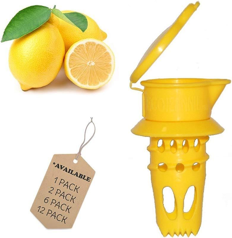 EcoJeannie 6 Pack Citrus Tap Portable Lemon Juicer Faucet Patent Pending Lime Squeezer Juice Extractor BPA Free Hormone Free