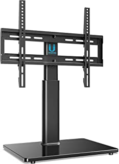 FITUEYES Universal TV Stand Base Swivel Tabletop TV Stand Base with Mount for 32 to 55 inch Flat Screen TV 2 Level Height Adjustable Holds up to 110lbs Screens VESA 400x400mm TT104501GB