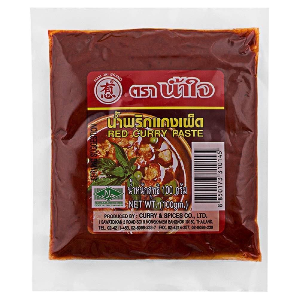 Num Jai Brand, Red Curry Paste 100 Gram X 2 Packs