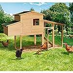 IDMarket - Poulailler Comfort avec pondoir en Bois #1