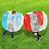 Inflatable Bubble Balls for Kids,Inflatable Buddy Bumper Balls Sumo Game Kids Soccer Ball Giant Human Hamster Knocker Ball Body Zorb Ball for Kids & Adults Outdoor Team Gaming Play.(36inch,red+blue)