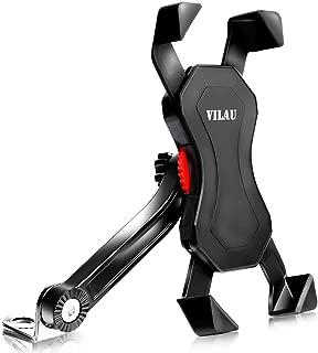 VILAU バイク スマホホルダー ミラー 取付 防水 強力固定 アルミ製アーム ワッシャー径三種付属 【一年保証】