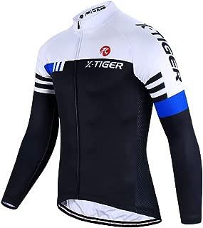 Cycling Bike Jersey Men,Bicycle MTB Shirts Long Sleeve with 3 Rear Pockets