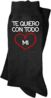 Calcetines de hombre Te quiero con todo mi corazón. Calcetines divertidos, con mensaje. Regalo, padre, abuelo, profesor.