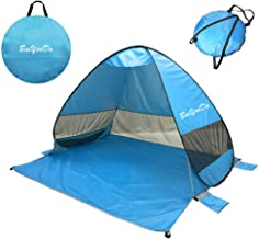 BaiYouDa Automatic Pop Up Beach Tent Sun Shelter Cabana 2-3 Person UV Protection Beach Shade with Carry Bag for Outdoor Activities