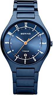 BERING Men's Analogue Quartz Watch with Titanium Strap