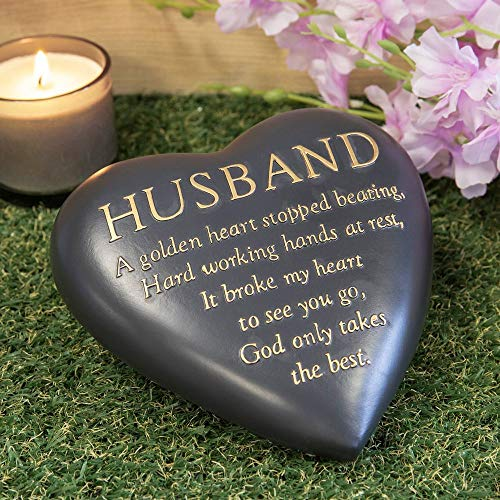 Thoughts of you Husband Heart Shaped Remembrance Graveside Memorial Ornament
