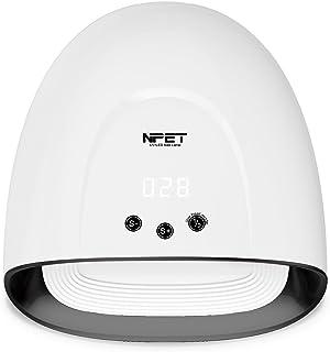 NPET NL030 - Lámpara UV LED para secado de uñas (60 W, luz blanca y negra 030)