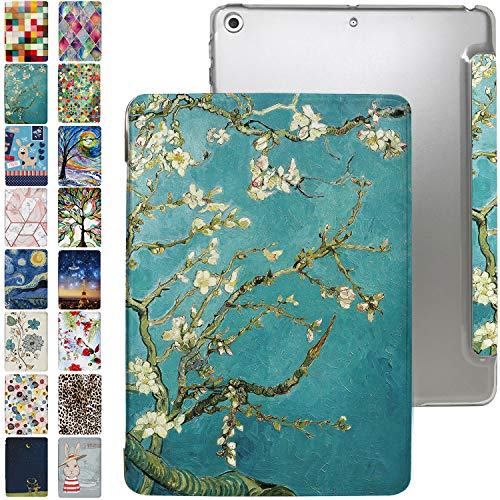 iPad PRO 9.7 Case 2016 with Slim Fit Dual-Angel Stand & Hard PC Clear Back [Protective Smart Cover] for PRO 9.7' [Auto Sleep/Wake] - Printed Blossom