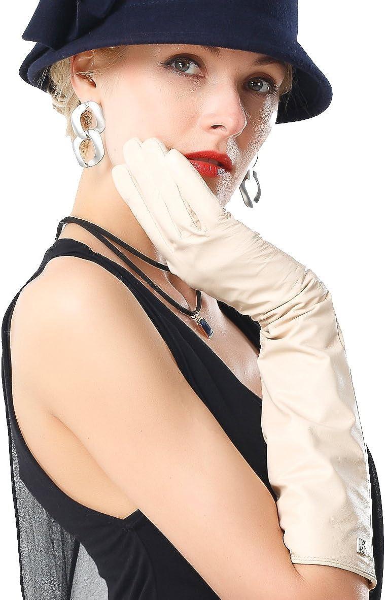 NappaNovum Women's Nappa Fees free!! Leather Inexpensive Lambskin Long Win Gloves