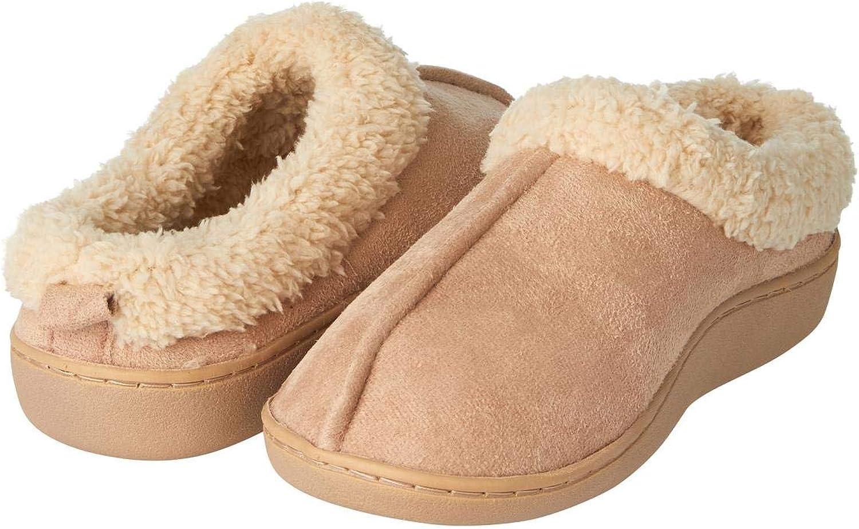 Seranoma Women's Faux Fur Comfort Slipper   Slip On   Memory Foam   Indoor Clog House Slippers   Microfiber   Sizes S-XL