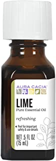 Aura Cacia Lime Essential Oil | GC/MS Tested for Purity | 15ml (0.5 fl. oz.)